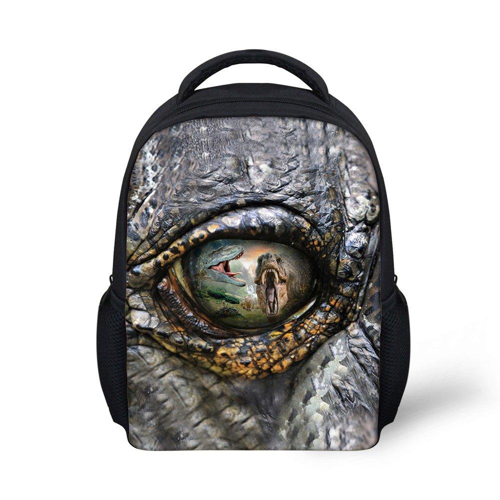 Hoijay Preschool Backpack, Little Kid Backpacks for Boys and Girls Jurassic T - Rex Eye