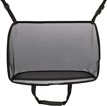 Car Handbag Holder Seat Back Net Bag,Capacity Bag for Purse Storage Phone Documents Pocket,Handbag Holder Between The Two Seats of The Car Standard, Black Seat Back Organizer Mesh