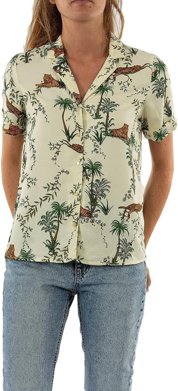 Only Onlelvina SS Button - Camiseta de manga corta para mujer, diseño de pijama con estampado de la selva: Amazon.es: Ropa y accesorios
