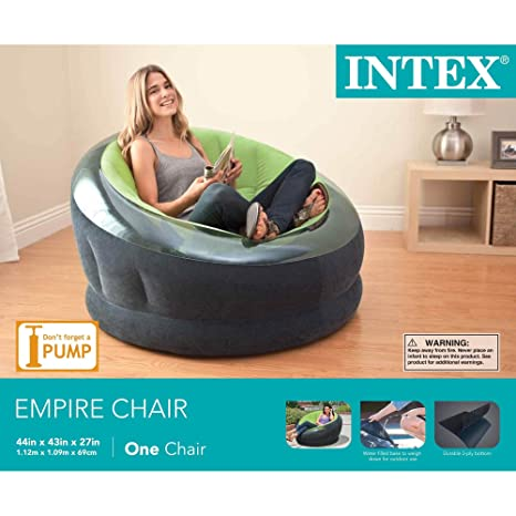 Amazon.com: Intex Empire - Silla hinchable para dormitorio o ...