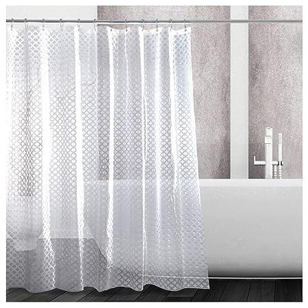 Kilokelvin 3D Shower Curtain Liner Heavy Duty 100 EVA Bathroom 72x72 Inch Waterproof Mildew