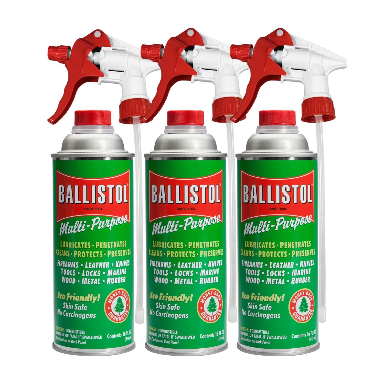Ballistol Multi-Purpose Lube Cleaner Protectant 16 Ounce w/Sprayer (Pack of 3.) by Ballistol
