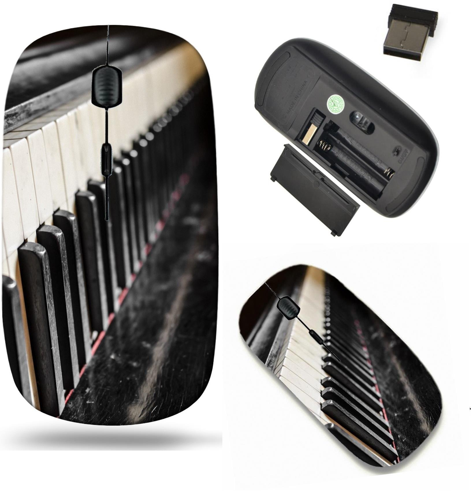 Liili Wireless Mouse Travel 2.4G Wireless Mice with USB Receiver, Click with 1000 DPI for notebook, pc, laptop, computer, mac book Detail of old and dirty piano keyboard 29378342