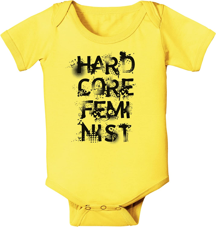 TooLoud Hardcore Feminist Baby Romper Bodysuit