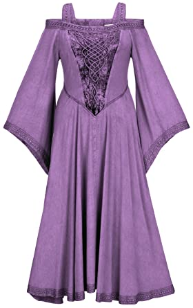 e4051960622 HolyClothing Aisling Velvet Princess Dress - Large - Purple Passion ...