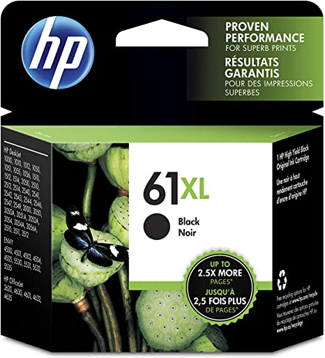 Amazon.com: HP 61XL | Cartucho de tinta | Negro | CH563WN ...