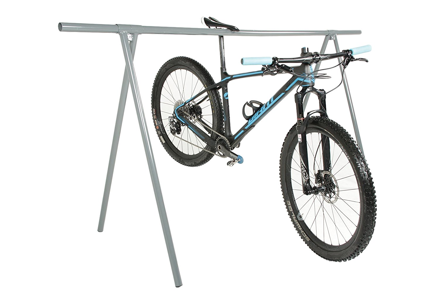 Amazon.com : Stationary Outdoor Indoor Bike Rack For Parking Or Home Storage,  Holds Up To 10 Bicycles, Simple Rail Design For Easy Setup And Assembly ...