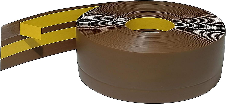 50x20mm HOLZBRINK Weichsockelleiste selbstklebend ASCHGRAU Knickleiste 5 Meter