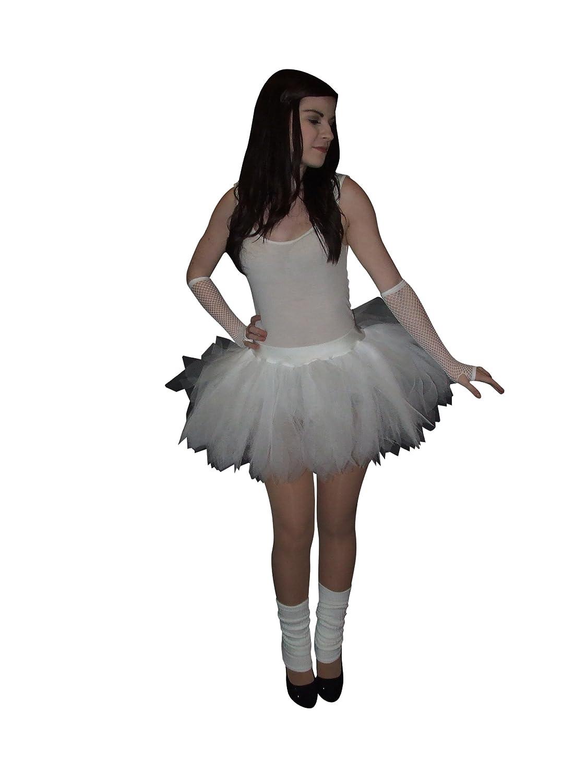 Ladies White Ruffle TUTU SKIRT Bride to be Hen Party Ballet Dancing Wedding
