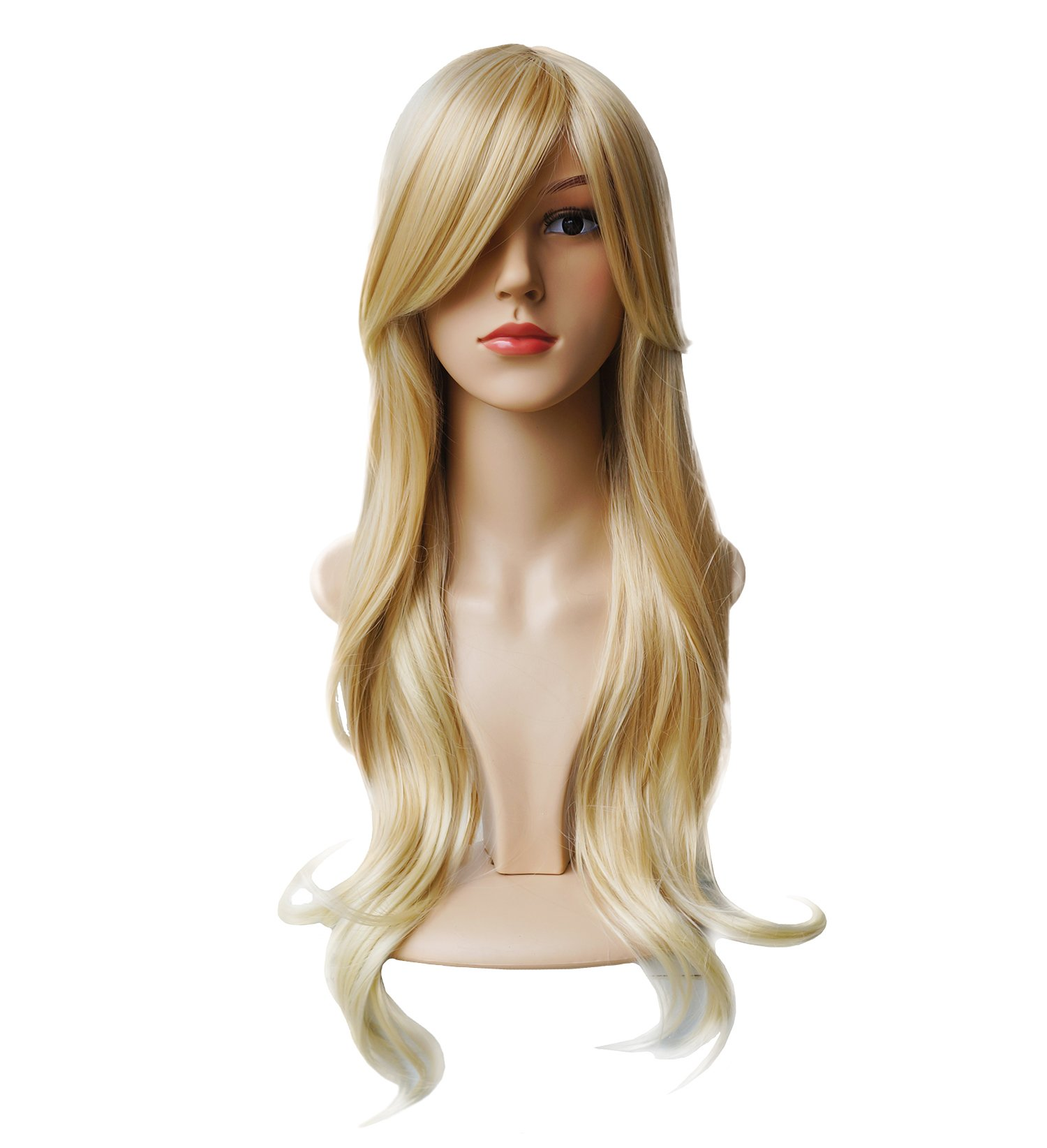 AnotherMe Gorgeous Long Big Wavy Blonde Hair Women Heat Resistant Fiber Wig Cosplay Party