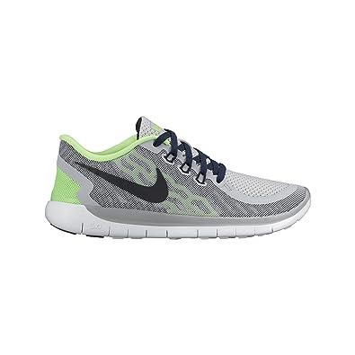 Nike Free 5.0 (GS), Zapatillas de Running Niños, Gris/Blanco (Wolf Grey/Obsdn-Vltg Grn-Wht), 36 1/2 EU: Amazon.es: Zapatos y complementos