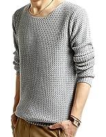 【ノーブランド】シンプル ニット メンズ セーター 長袖