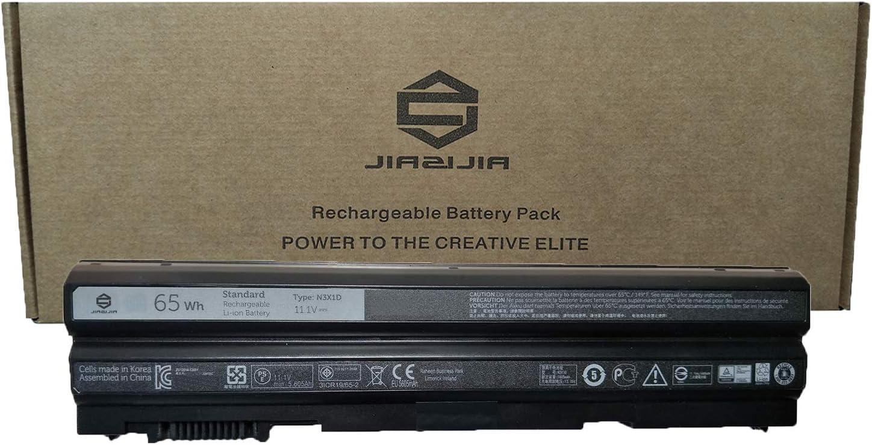 JIAZIJIA N3X1D Laptop Battery Replacement for Dell Latitude E6540 E5420 E5430 E5520 E5530 E6420 E6430 E6440 E6520 E6530 Series Notebook Black 11.1V 65Wh 5605mAh 6-Cell