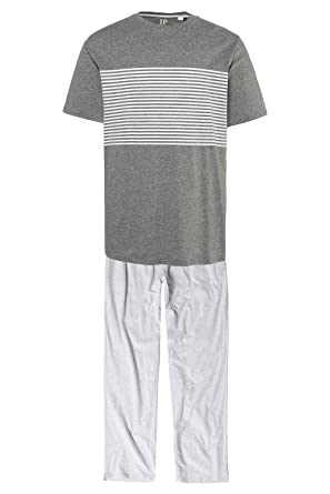 JP 1880 Mens Big & Tall Pyjamas Grey Melange X-Large 714266 12