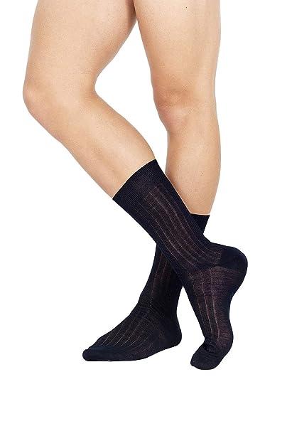 Sunlike ☀ Pompea Calcetines Larga y Corta de Hombre en Hilo de Escocia: Amazon.es: Ropa y accesorios