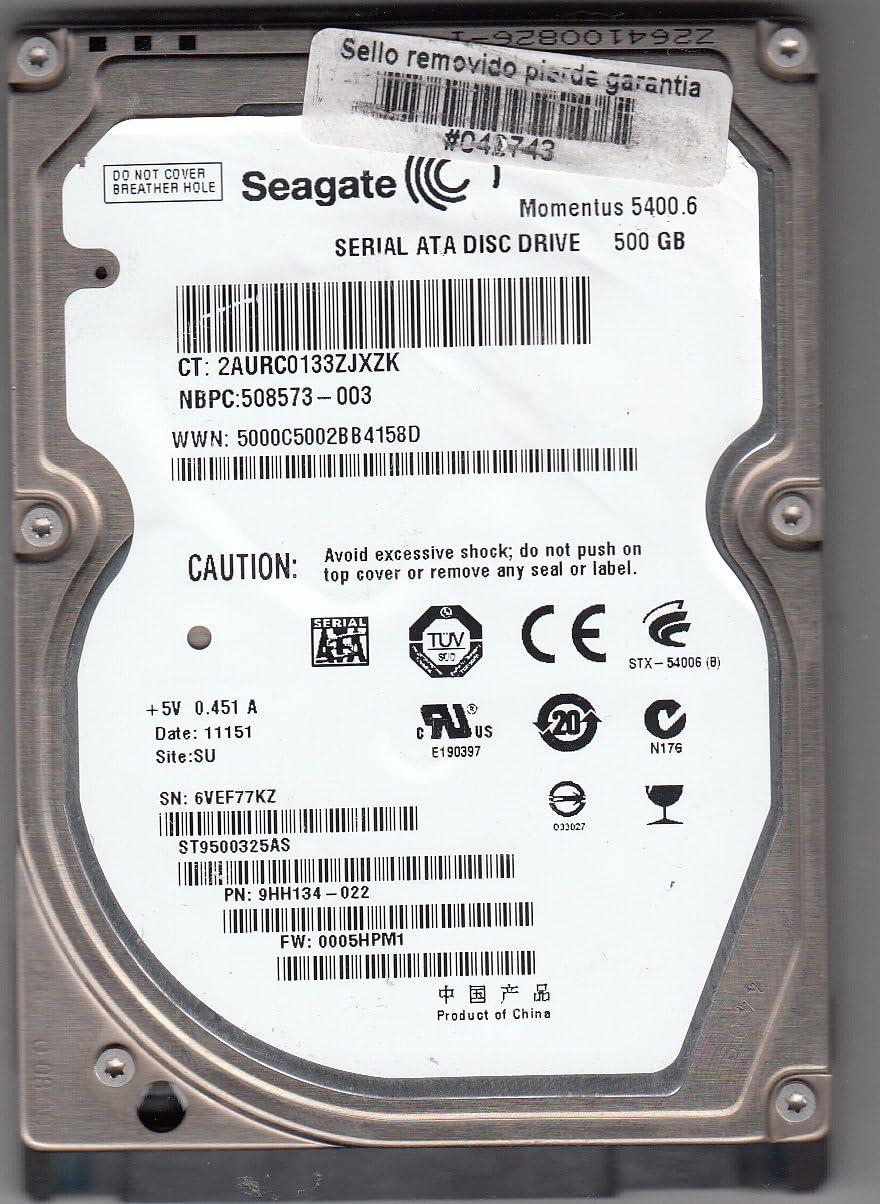 Seagate Momentus 5400.6 500GB 500GB SATA - Disco Duro (500 GB ...
