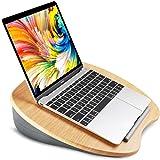 HUANUO Laptopstandaard met Kussen op Bed & Bank, als Boekenstandaard/Slaapkussen/Schootbureau met Kabelgat…