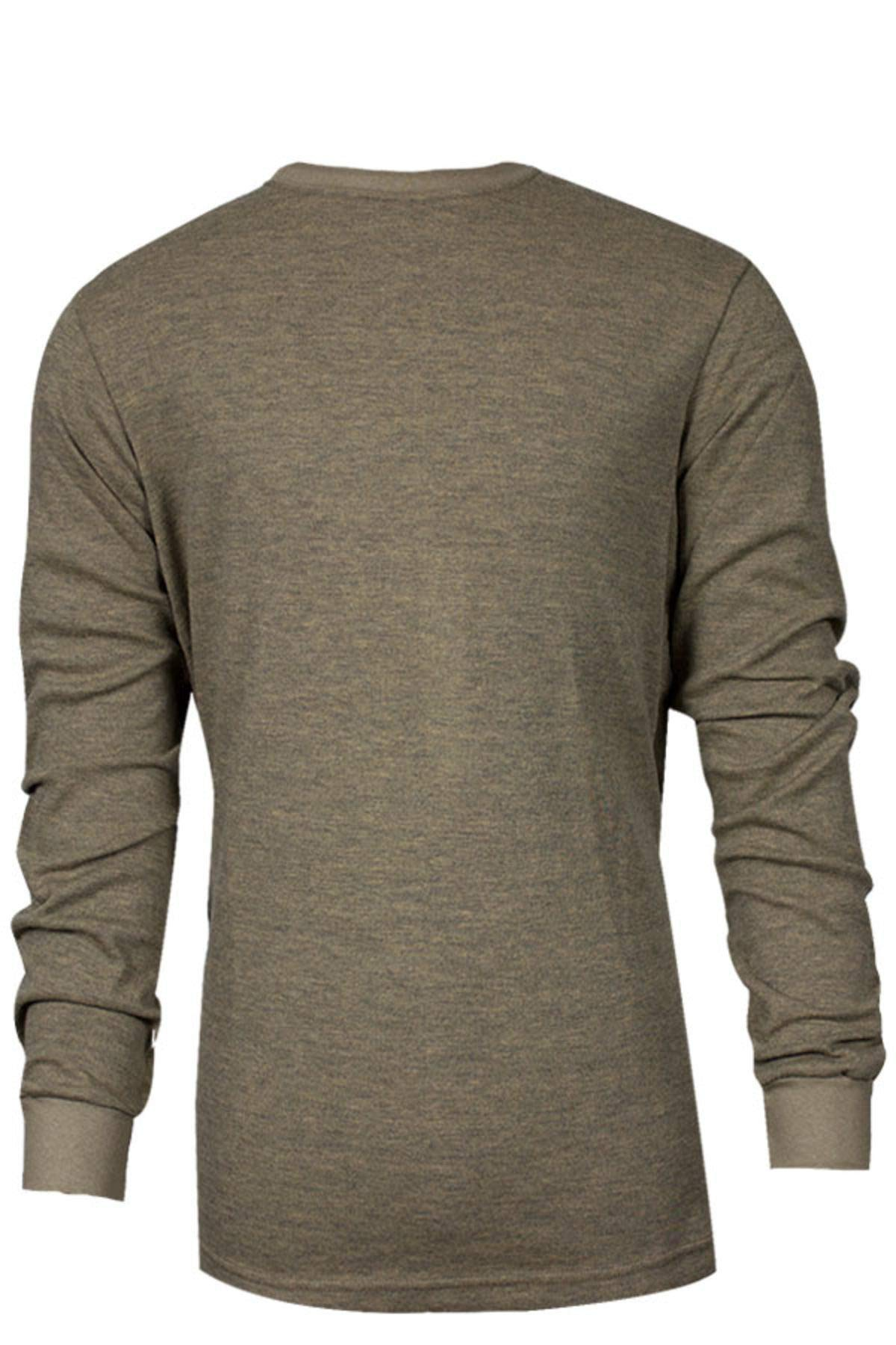 National Safety Apparel C541NTNLSLG TECGEN Select Long Sleeve FR T-Shirt, Large, Tan