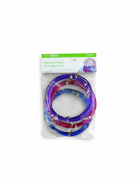 Amazon.com: FloraCraft SimpleStyle Aluminum Wire, Red, Blue, Purple ...