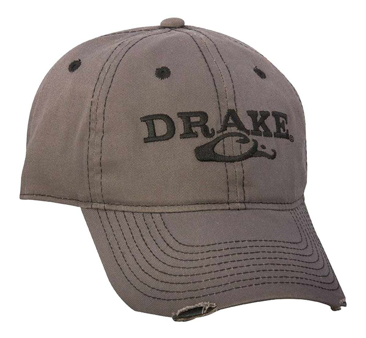 d21af4d365d Amazon.com  Drake Waterfowl Solid Distressed Cap - Gray  Sports   Outdoors
