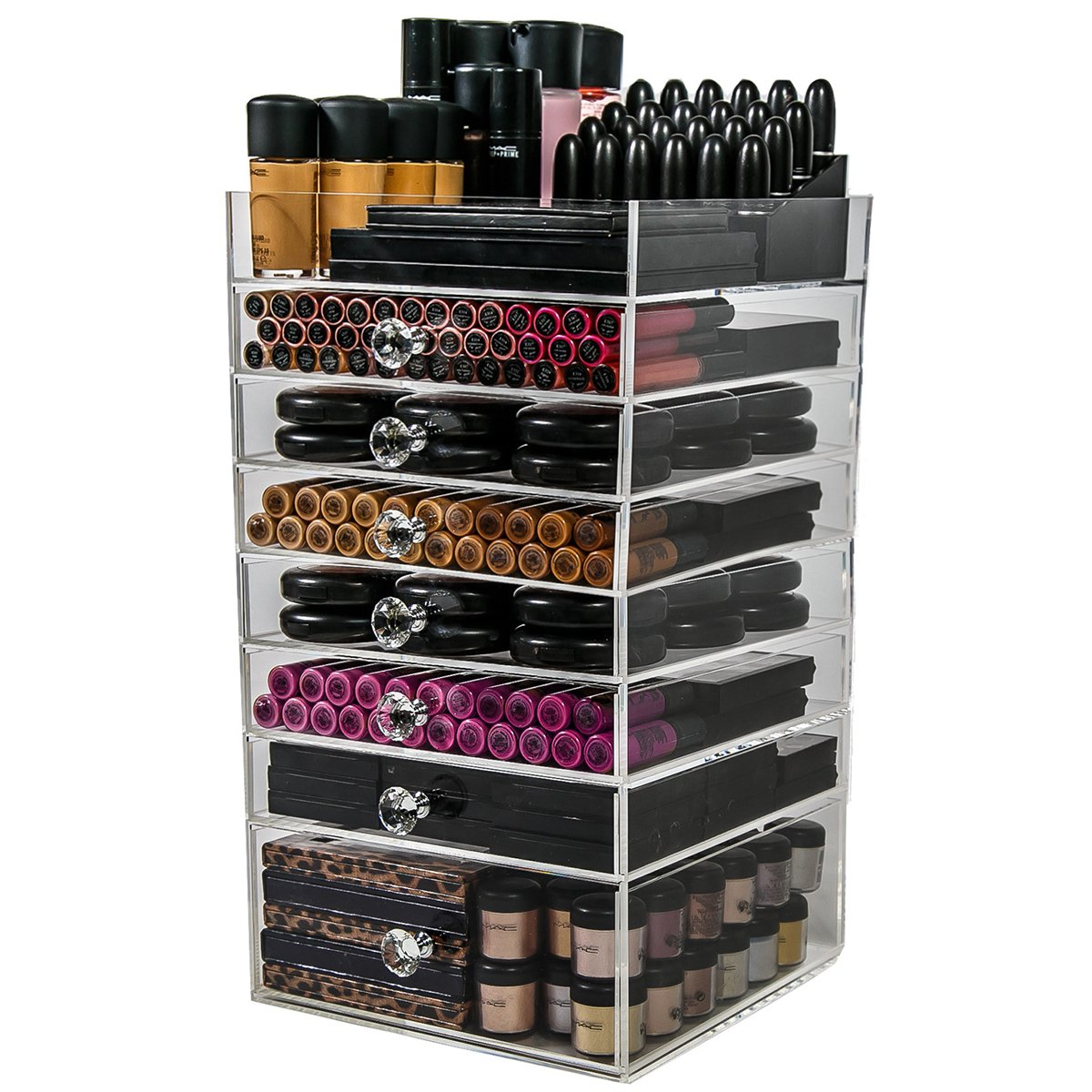 Nice Amazon.com: N2 Makeup Co Acrylic Makeup Organizer Cube, 7 Drawers Storage  Box For Vanity Tables (7 Drawer): Home U0026 Kitchen