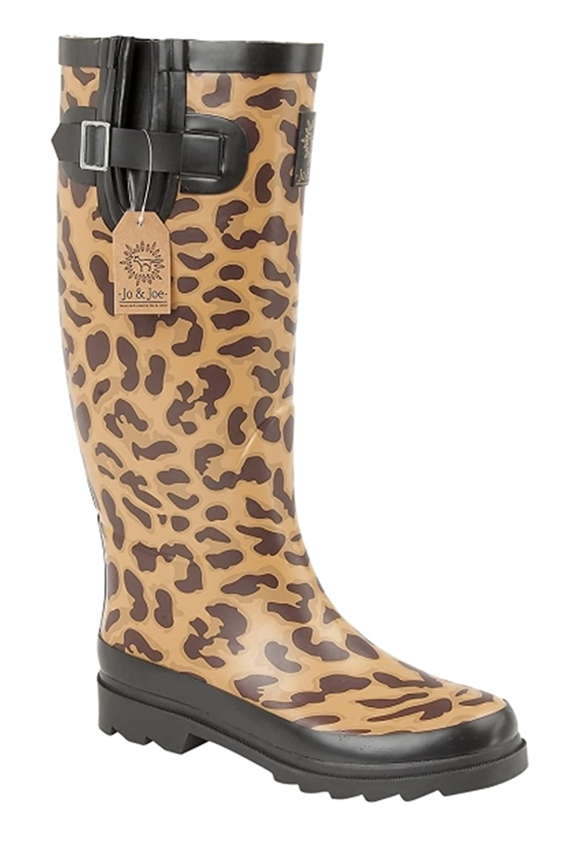 facc224fc18a Ladies Welly, Festival, Rain, Snow Animal Print Wide Wellies Wellington  Boots Beige: Amazon.co.uk: Shoes & Bags