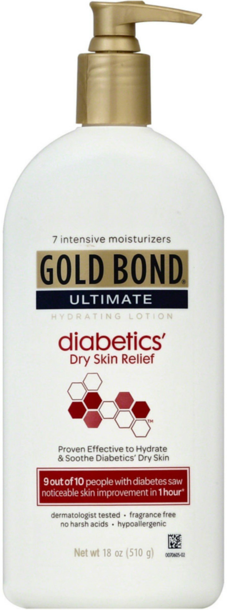 Gold Bond Ultimate Hydrating Lotion, Diabetics Dry Skin Relief 18 oz (Pack of 12) by Gold Bond