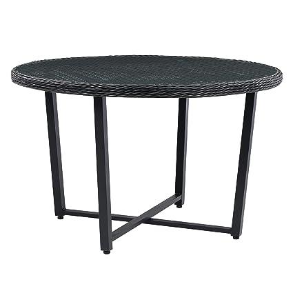Amazon.com: CorLiving - Mesa de comedor para patio con tapa ...