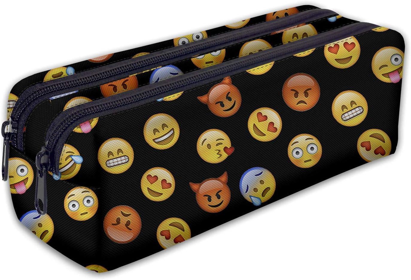 Estuches plumier la tuba Estuche Lapices de gran capacidad de Colores Para Niñas y Niño Emoji Black [107]: Amazon.es: Juguetes y juegos