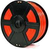 USAFilament 9800431 ABS 3D Printing Filament, 2.2 lb., 1.75 mm, Red Spool