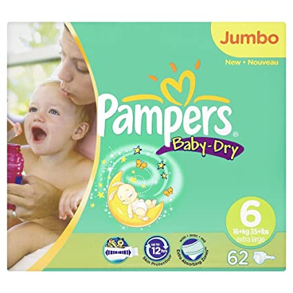 Pampers 81162099 - Pañales desechables [talla: 6 XL]