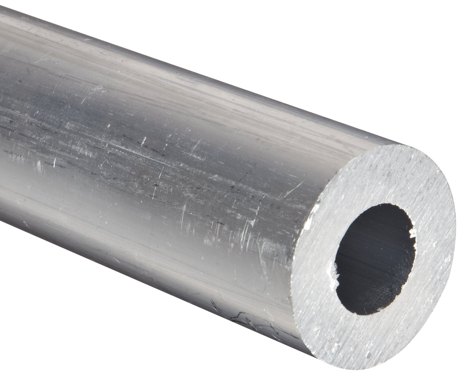 Aluminum 6061-T6 Extruded Round Tubing,  ASTM B210,  6'' OD,  5.75'' ID,  36'' Length