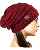 NYfashion101 Lose schlappe Winter Strickmütze Beanie