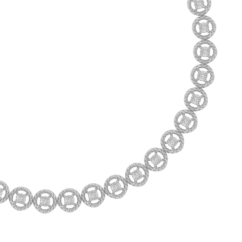 Sterling Silver Rose-Cut Diamond Eternity Wheel Bracelet (0.50 cttw, I-J Color, I3 Clarity) by Original Classics (Image #2)