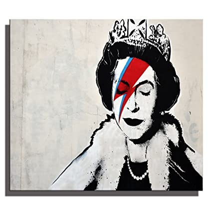 Banksy Queen Graffiti Street Art Cool Abstract Portrait