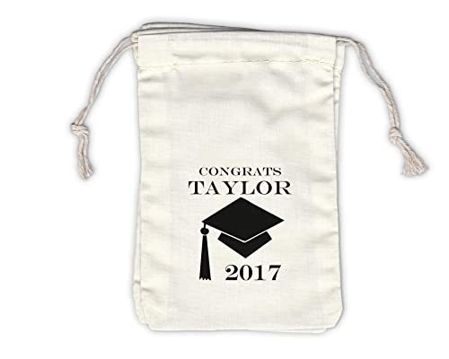 Class of 2018 Personalized Treat Bags Set of 25 Black High School Graduation Party Custom Kraft Paper Favor Bags in School Colors 0214