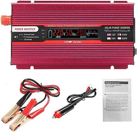 2000W 24V DC to 120V AC Pure Sine Wave Inverter Car//Home solar Power