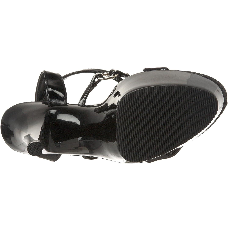 Pleaser Women's Kiss 215 Platform Sandal B0013WJSWU 6 B(M) US Black Patent