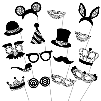 7dedc6366b7c Amazon.com  Silver Photo Booth Props - Fully Assembled