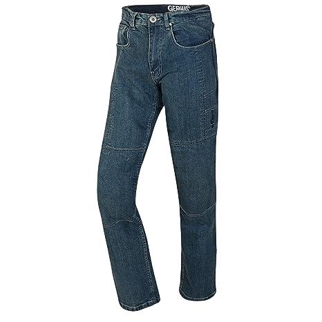 GERMAS Bike Jeans/Kevlar de jeans Erik con rodillera de protecciones, denim de color azul, tamaño 36/34