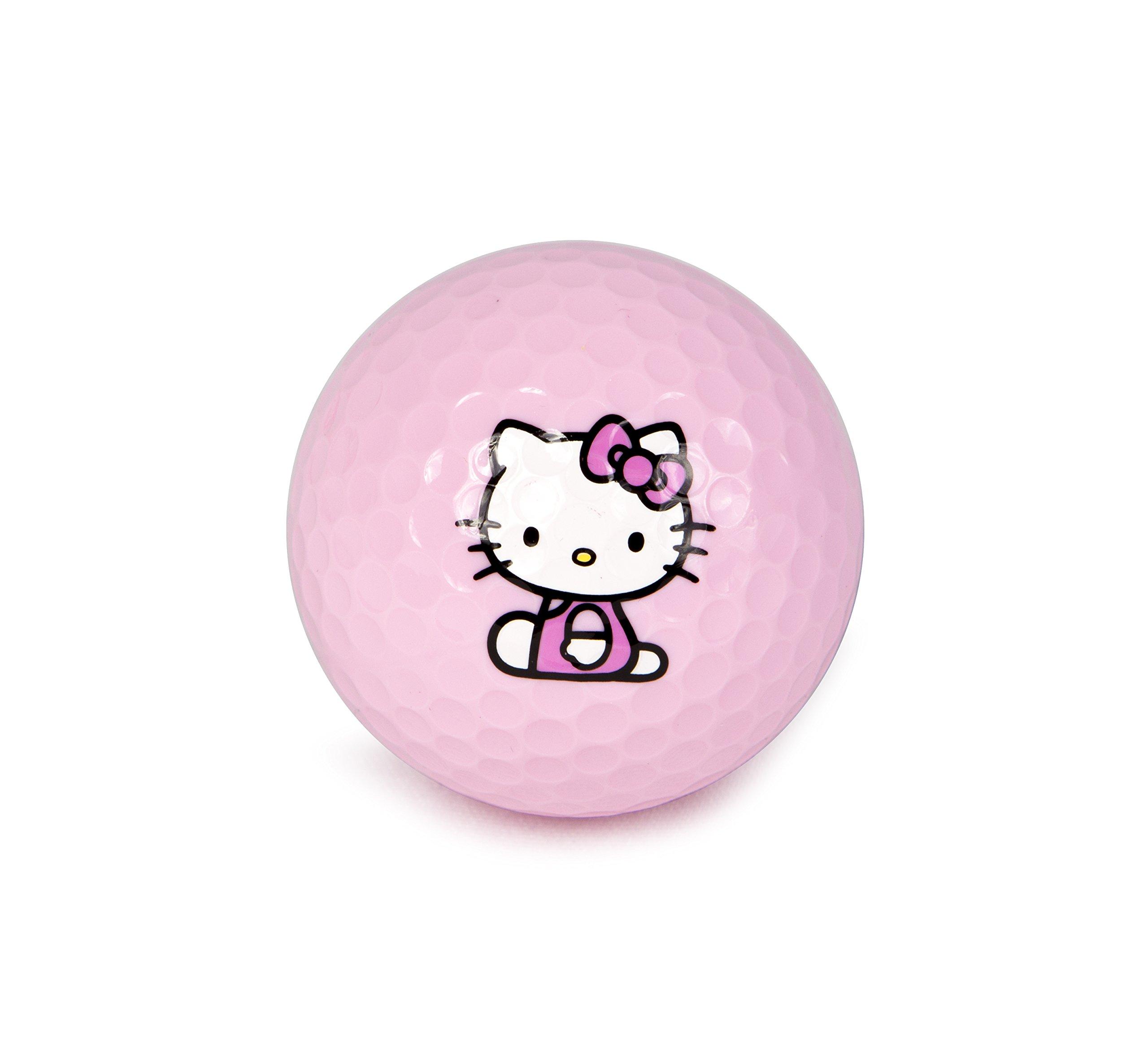 Hello Kitty Golf 3 Item - Kit -''The Collection'' Golf Balls (6 balls) + Hello Kitty Sports Script Hat (1 pc.) + Hello Kitty Premier Collection Divot Tool (1 pc.) by Hotshots (Image #3)