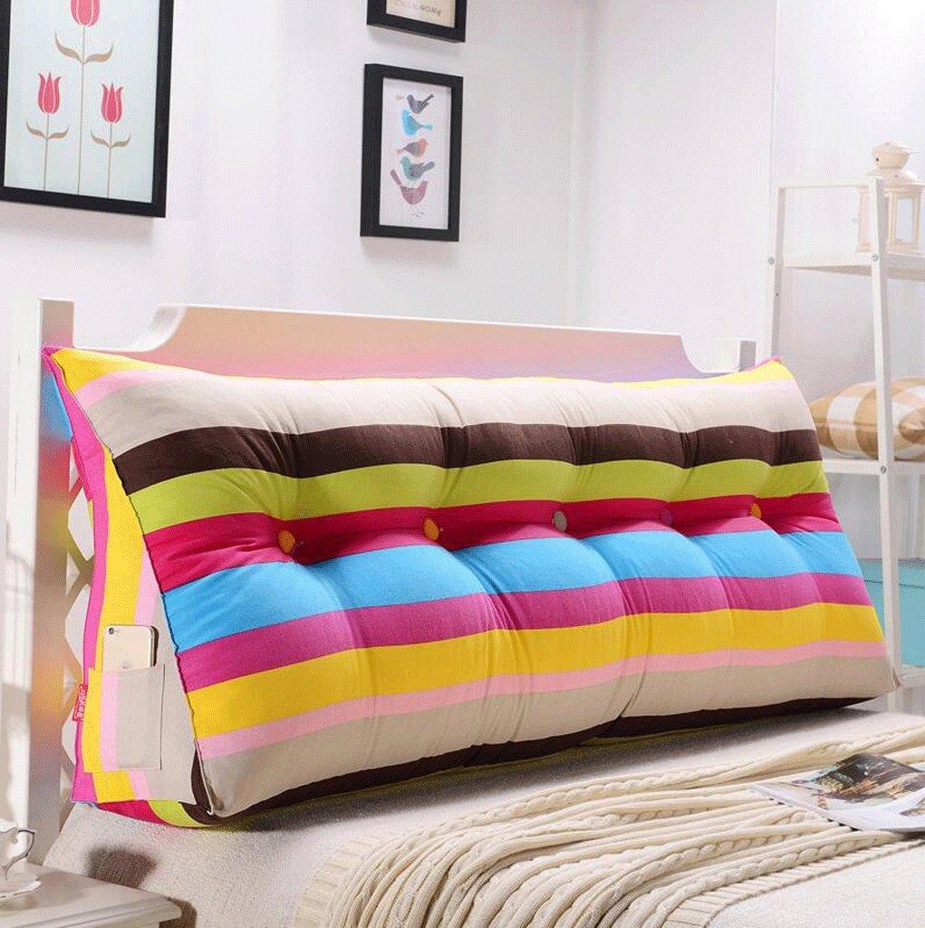 Kopfkissen KLEDDP Dreieckskissen Kissen Doppelkopf Softpack Bett Großes Kissen Bett Rückenlehne Abnehmbar Und Waschbar Kissen Color : K, Size : 150cm Bettwaren & Bettwäsche
