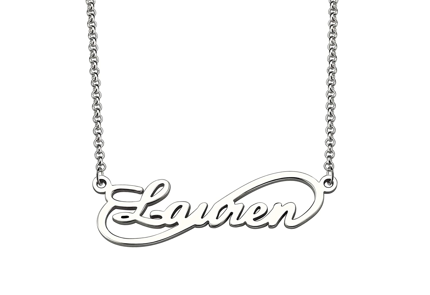 Getname Necklace Infinity Necklace Personalized Single Name Necklace Sterling Silver Pendent Jewelry