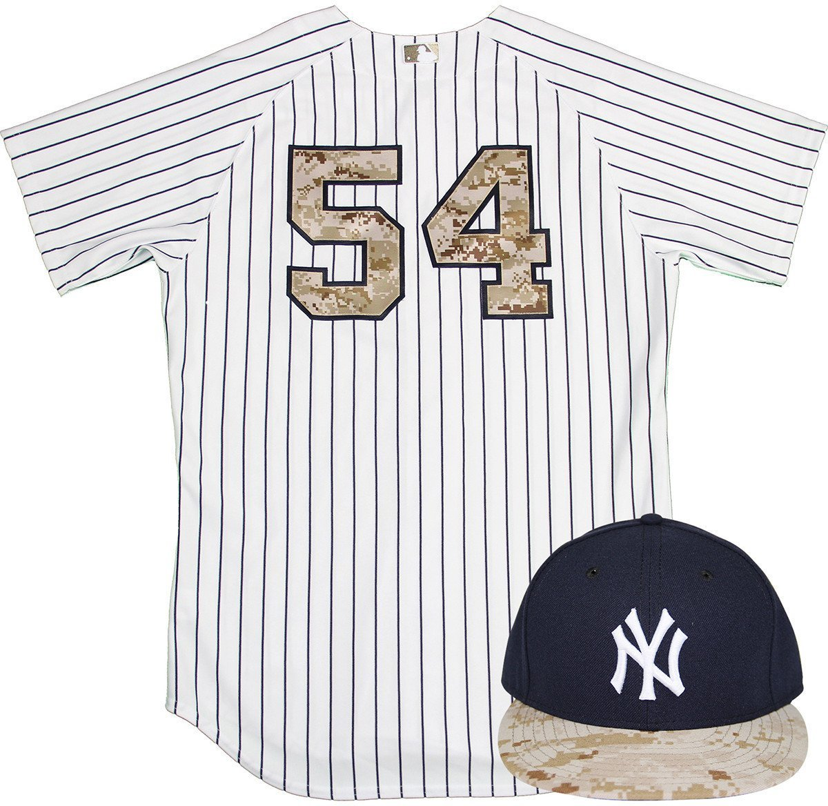 Joe Espada Uniform - NY Yankees 2015 Game Used  54 Jersey and Hat w Memorial  Day Camo (5 25 2015) at Amazon s Sports Collectibles Store 401f1e9cdc1