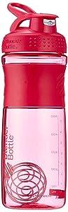 BlenderBottle SportMixer Tritan Grip Shaker Bottle, Pink/Pink, 28-Ounce