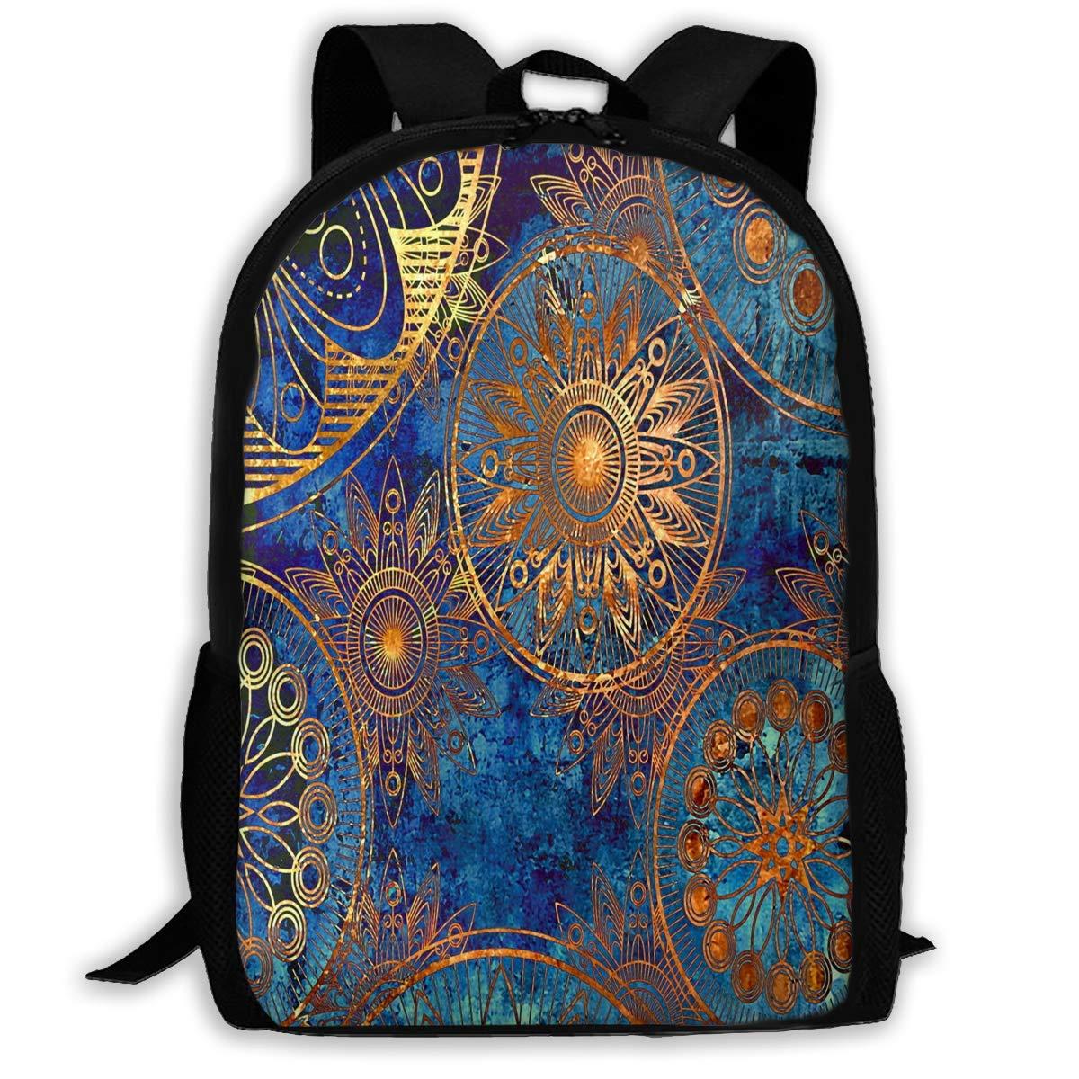 color08 One_Size Backpack for Adults Boho Whimsical Elephant Shoulders Bag