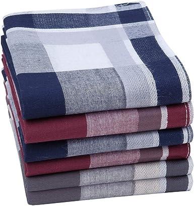 HOULIFE - Pañuelos para hombre de algodón puro, 40 x 40 cm, 3 ...