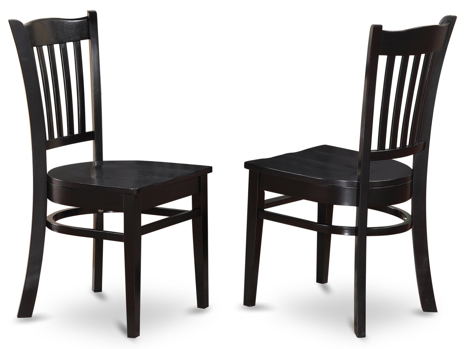 Amazon.com: East West Furniture GRC WHI W Dining Chair Set With Wood Seat,  White Finish, Set Of 2: Kitchen U0026 Dining