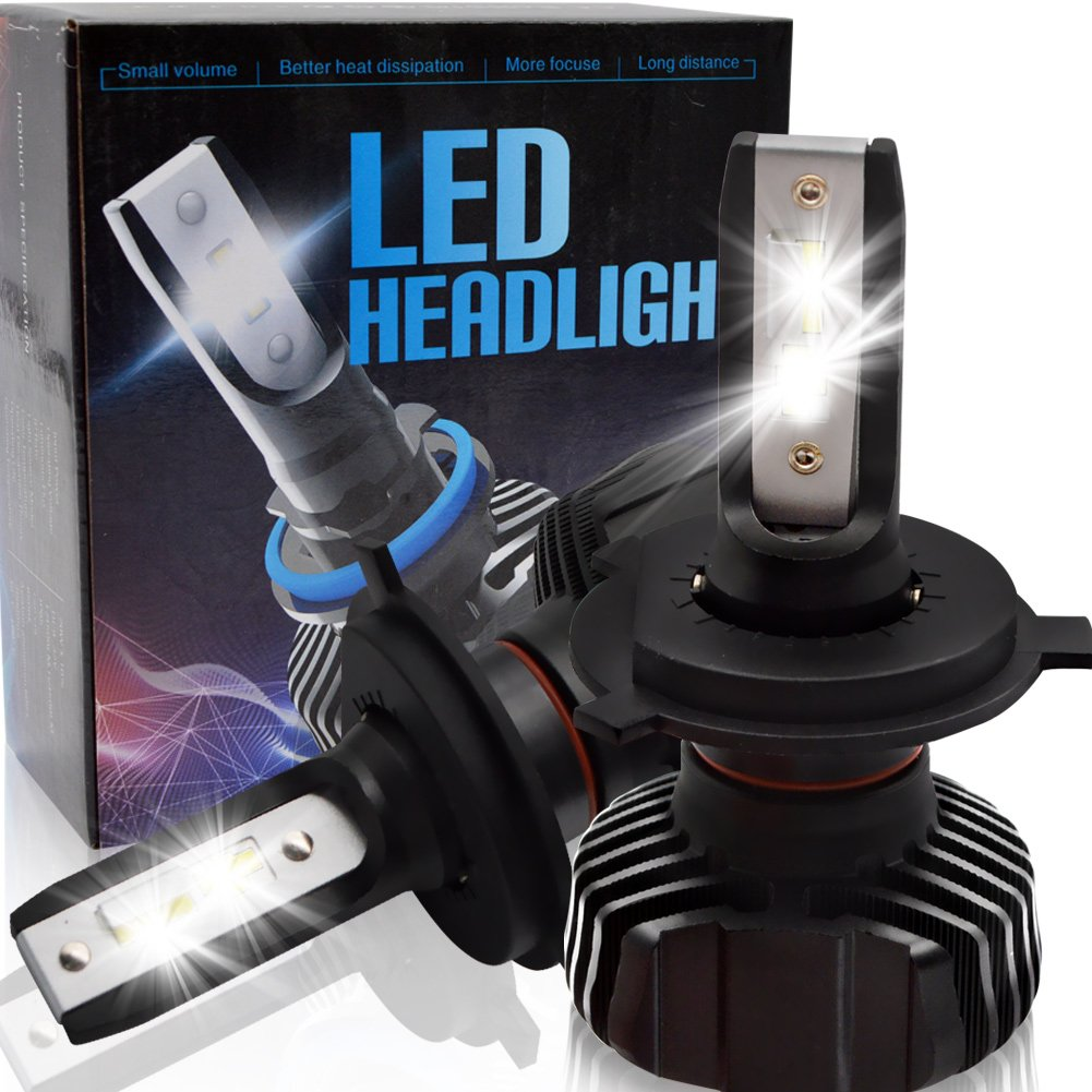 BeiLan Kit de faros LED H4 HB2 9003 kits de conversión con 32 piezas LED Seoul