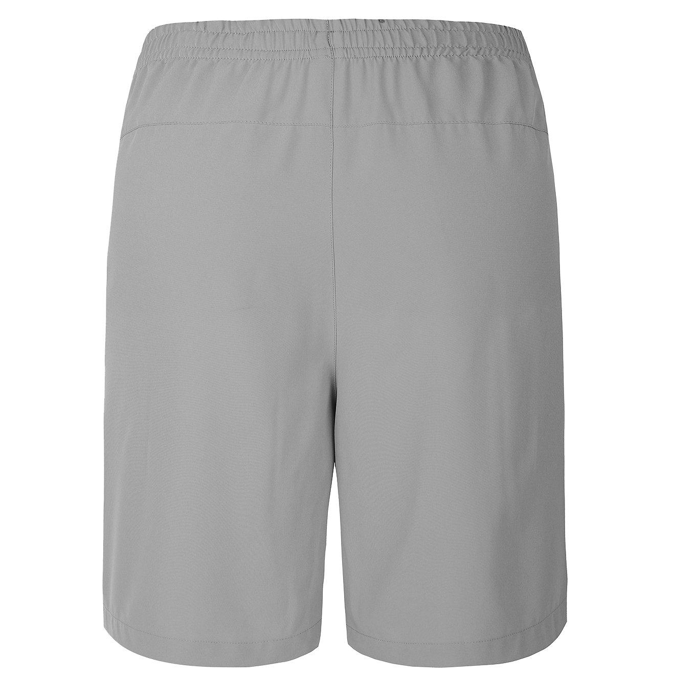 Gititlys Men\'s Shorts with Pockets 95% Terylene and 5% Spandex (Light Gray, Large)